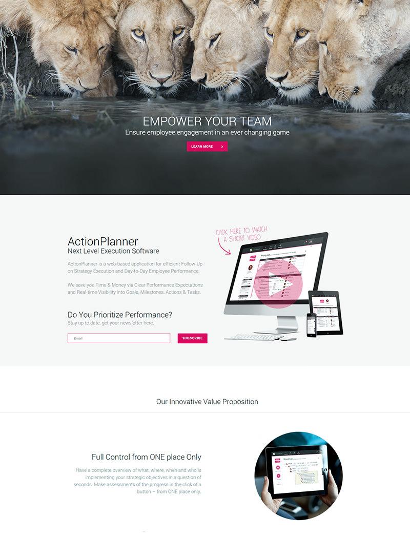 ActionPlanner.com Hjemmeside