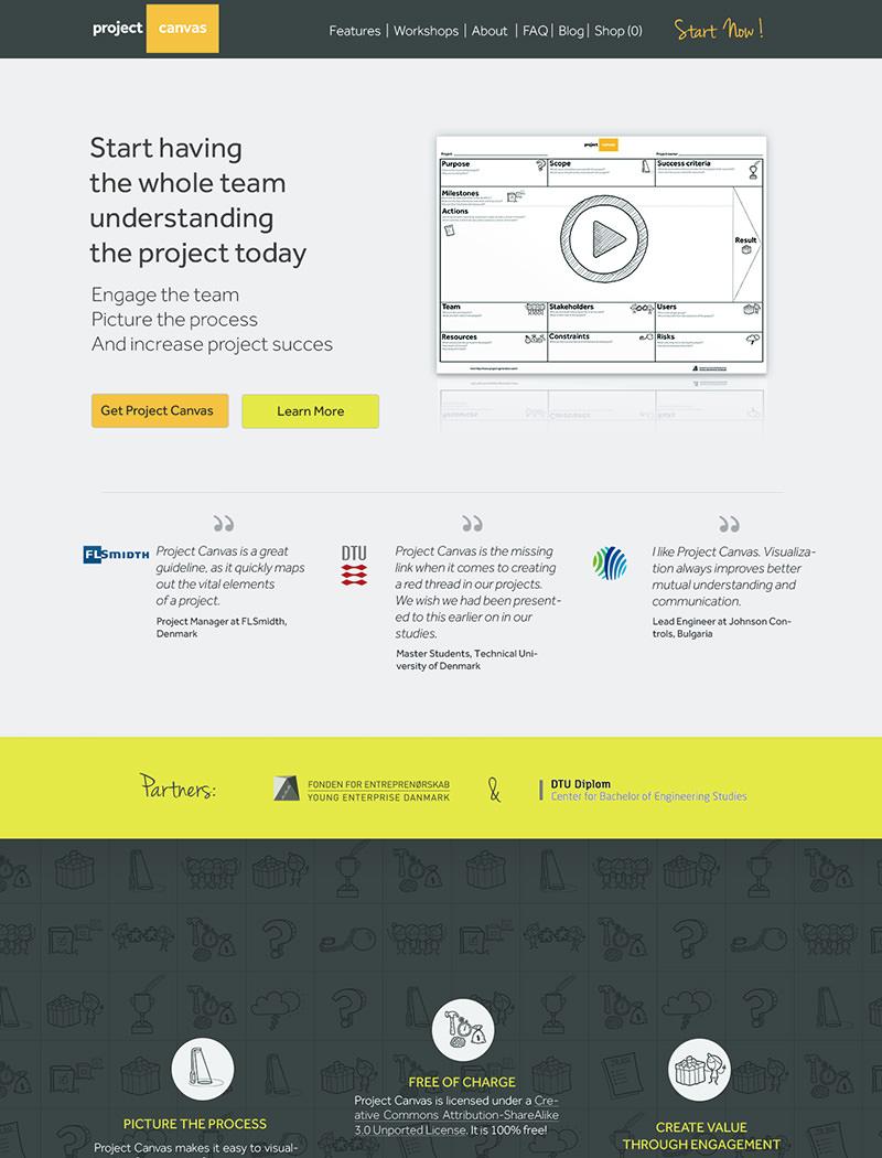 ProjectCanvas.dk Hjemmeside