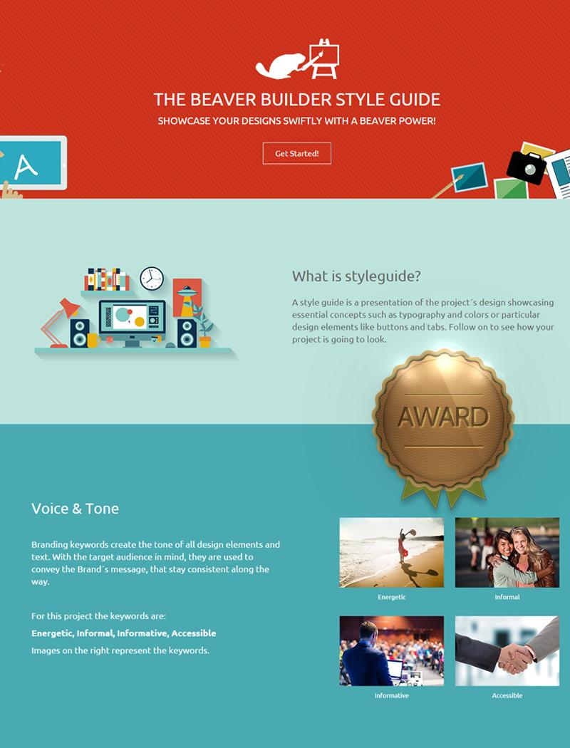 Beaver Builder Styleguide